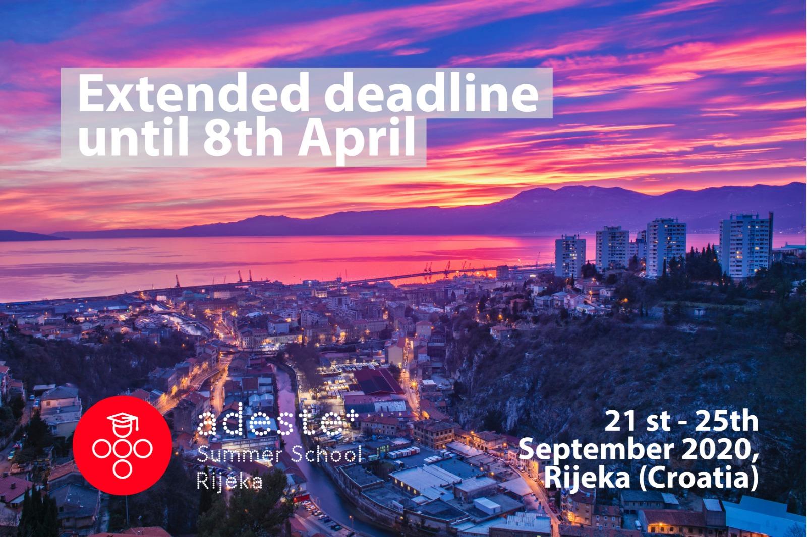 Extended deadline until 8th April
