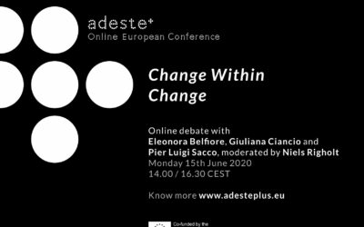 "Adeste+ Pre-conference 15th June: ""Culture and public at a turning point"""