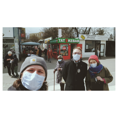 The Polish project team Adeste Plus takes to the streets to talk to the local population.