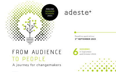 """CALL FOR PARTICIPANTS. New online Summer School. """"From Audience to people. A journey for changemakers"""""""